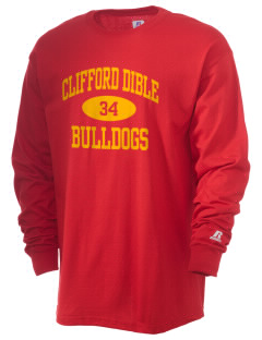 Clifford Dible Elementary School Bulldogs  Russell Men's Long Sleeve T-Shirt