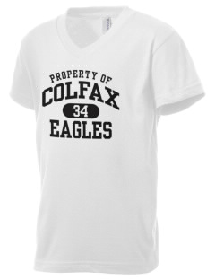 Colfax Elementary School Eagles Kid's V-Neck Jersey T-Shirt