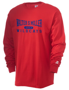 Walter S Miller Elementary School Wildcats  Russell Men's Long Sleeve T-Shirt