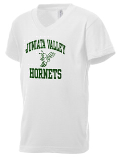 Juniata Valley High School Hornets Kid's V-Neck Jersey T-Shirt