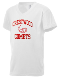 Crestwood Junior High School Comets Kid's V-Neck Jersey T-Shirt