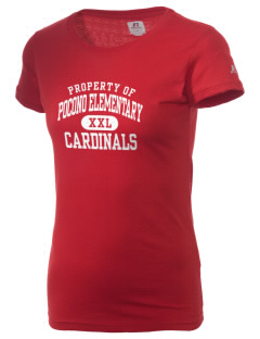 Pocono Elementary Center Cardinals  Russell Women's Campus T-Shirt