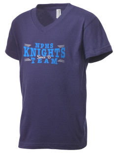 North Penn High School Knights Kid's V-Neck Jersey T-Shirt