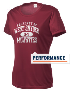 West Snyder High School Mounties Women's Competitor Performance T-Shirt