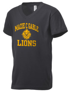 Mazie C Gable Elementary School Lions Kid's V-Neck Jersey T-Shirt