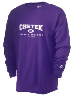 Chetek High School Bulldogs  Russell Men's Long Sleeve T-Shirt