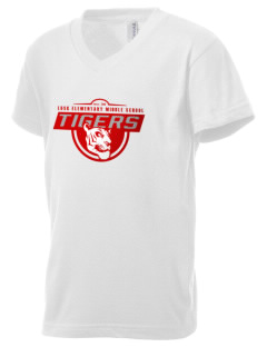 Lusk Elementary Middle School Tigers Kid's V-Neck Jersey T-Shirt