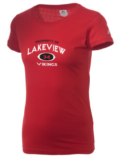 Lakeview Elementary School Vikings  Russell Women's Campus T-Shirt
