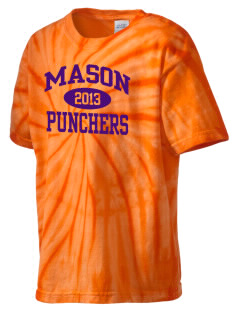 Mason High School Punchers Kid's Tie-Dye T-Shirt