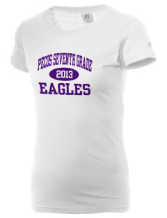 Pecos Seventh Grade School Eagles  Russell Women's Campus T-Shirt