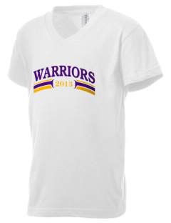 Miami Independent School District Warriors Kid's V-Neck Jersey T-Shirt