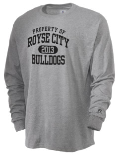 Royse City High School Bulldogs  Russell Men's Long Sleeve T-Shirt