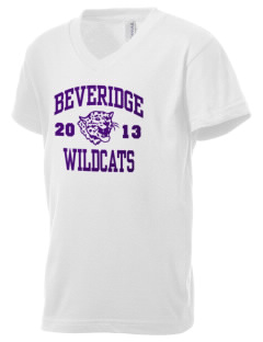 Beveridge Elementary School Wildcats Kid's V-Neck Jersey T-Shirt