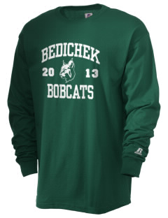 Bedichek Middle School Bobcats  Russell Men's Long Sleeve T-Shirt