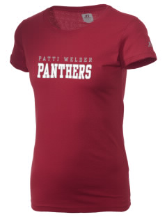 Patti Welder Middle School Panthers  Russell Women's Campus T-Shirt