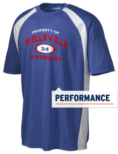 Wellsville Elementary School Warriors Men's Dry Zone Colorblock T-Shirt