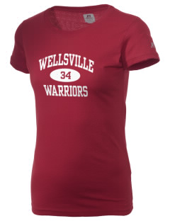 Wellsville Elementary School Warriors  Russell Women's Campus T-Shirt
