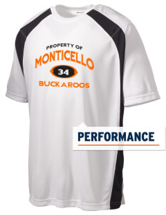 Monticello High School Buckaroos Men's Dry Zone Colorblock T-Shirt