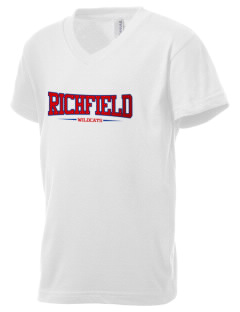 Richfield High School Wildcats Kid's V-Neck Jersey T-Shirt