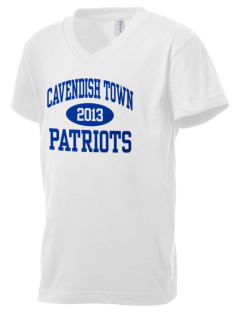 Cavendish Town Elementary School Patriots Kid's V-Neck Jersey T-Shirt