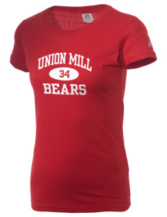 Union Mill Elementary School Bears  Russell Women's Campus T-Shirt