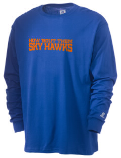 Sacajawea Elementary School Sky Hawks  Russell Men's Long Sleeve T-Shirt