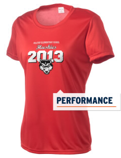 Hilltop Elementary School Huskies Women's Competitor Performance T-Shirt
