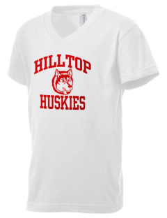 Hilltop Elementary School Huskies Kid's V-Neck Jersey T-Shirt
