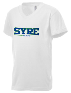 Syre Elementary School Wildcats Kid's V-Neck Jersey T-Shirt