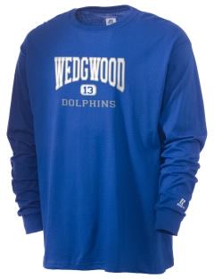 Wedgwood Elementary School Dolphins  Russell Men's Long Sleeve T-Shirt