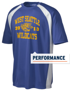 West Seattle High School Wildcats Men's Dry Zone Colorblock T-Shirt