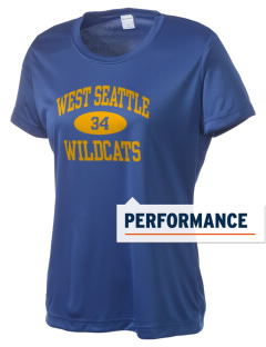 West Seattle High School Wildcats Women's Competitor Performance T-Shirt