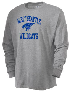 West Seattle High School Wildcats  Russell Men's Long Sleeve T-Shirt