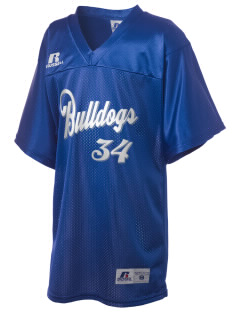 Bremerton Junior High School Bulldogs Russell Kid's Replica Football Jersey