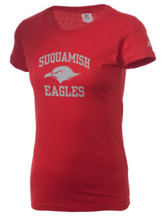 Suquamish Elementary School Eagles  Russell Women's Campus T-Shirt