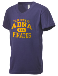 Adna Senior High School Pirates Kid's V-Neck Jersey T-Shirt