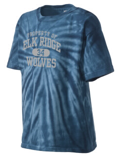 Elk Ridge Elementary School Wolves Kid's Tie-Dye T-Shirt
