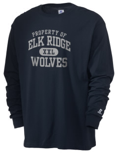 Elk Ridge Elementary School Wolves  Russell Men's Long Sleeve T-Shirt