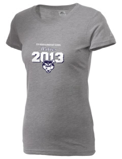 Elk Ridge Elementary School Wolves  Russell Women's Campus T-Shirt