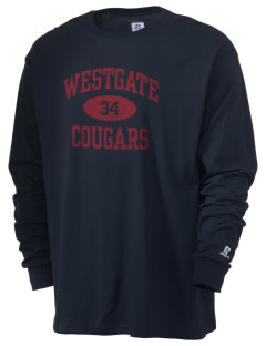 Westgate Elementary School Cougars  Russell Men's Long Sleeve T-Shirt