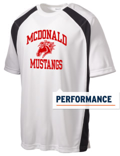 McDonald Elementary School Mustangs Men's Dry Zone Colorblock T-Shirt