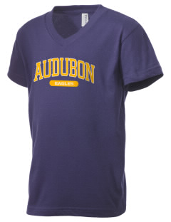 Audubon Elementary School Eagles Kid's V-Neck Jersey T-Shirt