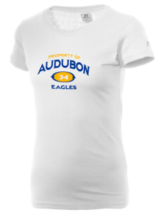 Audubon Elementary School Eagles  Russell Women's Campus T-Shirt