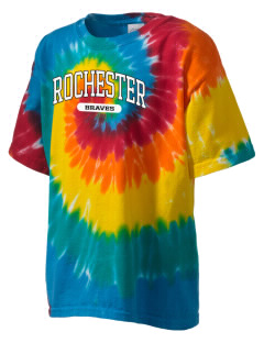 Rochester Middle School Braves Kid's Tie-Dye T-Shirt