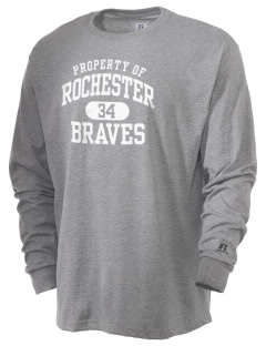 Rochester Middle School Braves  Russell Men's Long Sleeve T-Shirt