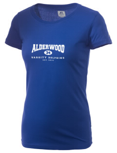 Alderwood Elementary School Dolphins  Russell Women's Campus T-Shirt