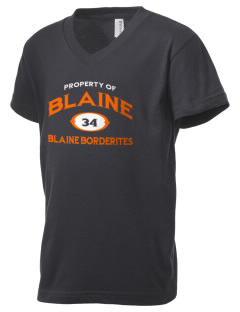 Blaine High School Blaine Borderites Kid's V-Neck Jersey T-Shirt