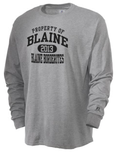 Blaine High School Blaine Borderites  Russell Men's Long Sleeve T-Shirt
