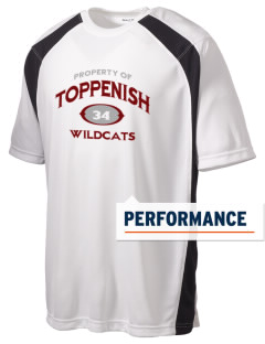 Toppenish High School Wildcats Men's Dry Zone Colorblock T-Shirt
