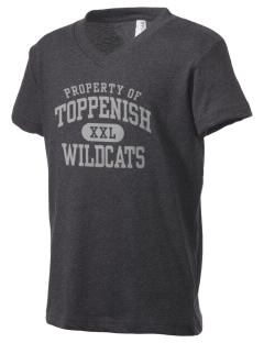 Toppenish High School Wildcats Kid's V-Neck Jersey T-Shirt